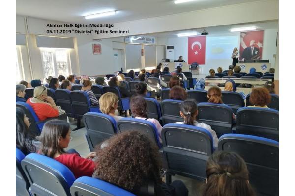 Akhisar - Disleksi Farkındalık Haftası Eğitim Semineri