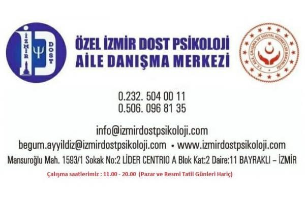 İzmir Psikolog arayış ve gereksinimlerinizde güvenilir pedagog, psikolog ve psikolojik danışman desteği için bizimle iletişime geçebilirsiniz. 0506 096 81 35 - 0232 504 00 11